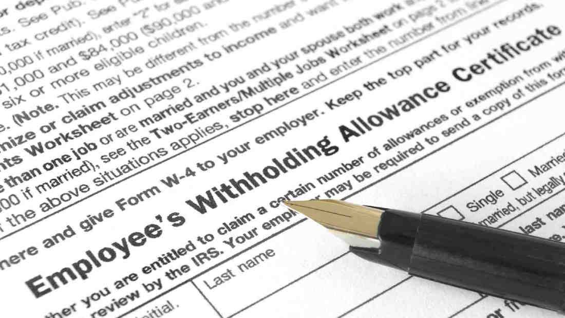 W4 Withholding Tax Allowance Federal Income
